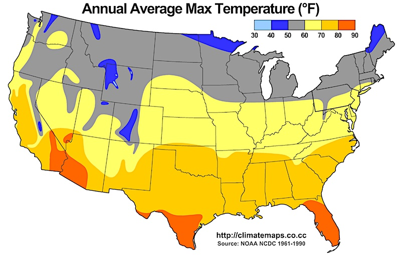 US Annual Average Temperature